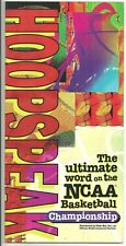 1995 HoopSpeak The Ultimate Word On NCAA Basketball Championship March Madness