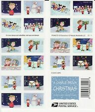 A CHARLIE BROWN CHRISTMAS STAMP BOOKLET -- USA #5021-#5030 FOREVER 2015 PEANUTS
