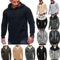 Men Hoodies Winter Casual Hooded Sweatshirt Outwear Sweater Warm Coat Jacket Top