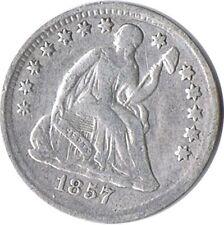 ESTADOS UNIDOS AMERICA USA EE.UU. HALF DIME SILVER PLATA 1857