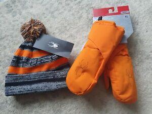 Boy's Spyder Ski  Hat & Gloves 6-9 Years NWT