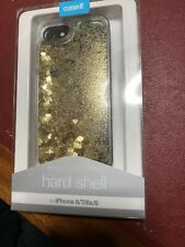 CaseIt Hard Shell Ifone 6, 6s, 7, 8 Gold Glitter In Oil sparkly Cover Unopened