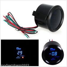 "Mini Round Black Surface 2"" 52mm Vehicle LED Digital PSI Turbo Boost Gauge Meter"