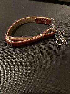 "Dog Puppy Leather Collar Training Martingale Collar Size 16""-19"". 40-49cm"