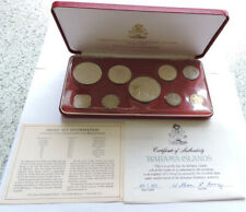 1973 Bahamas Proof Set Cased With COA And Outer Includes Four Silver Coins