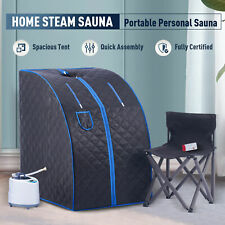 More details for portable steam sauna tent spa slimming loss weight full body detox therapy black