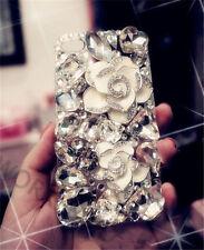 3D Luxury Bling Crystal Rhinestone Diamonds Gems Fox Hard Back Phone Case Cover
