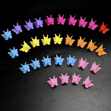 20PCS Girls Mini Hair Claws Candy Colors Hair Clips Butterfly Shape Hair Clamps