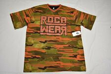 $40 NWT NEW Mens Rocawear T-Shirt Artillery Camo V-Neck Graphic Tee 2XB 2X N407