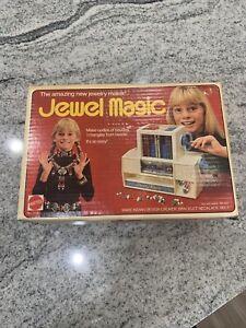 VTG Jewel Magic Jewelry Maker by Mattel 1974 Original Box and Instructions USA