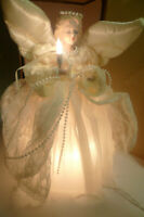 House of Lloyd Christmas Around the World Pearled Angel Tree Topper Lighted