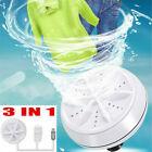 Portable Mini Ultrasonic Washing Machine Easy Operation Electric Laundry Travel photo