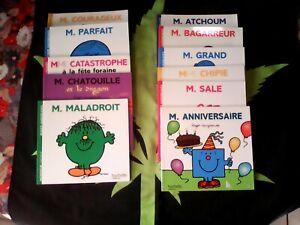 """LOT 11 ANCIENS LIVRES ENFANTS """"MONSIEUR MADAME"""" - LE LIVRE DE PARIS HACHETTE"""