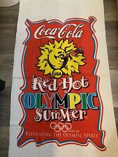 Coca Cola Coke Red hot Summer Towel Vintage Rare VTG 1996 Olympics