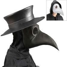 2018 Plague Doctor Mask Birds Long Nose Beak Faux Leather Steampunk Halloween AU