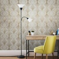 Modern Wallpaper yellow gold metallic textured geometric diamond triangle lines