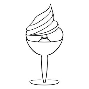 Ice Cup 19 11/16in Sticker Tattoo Ice Cafe Display Window Glass Car Foil