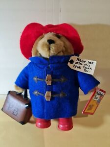 PADDINGTON BEAR  Collectible with FELT Jacket 20cm, Red Boots and SUITCASE