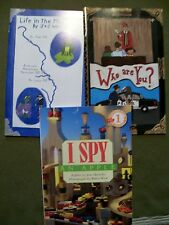 (SET OF 4) Life in the Mississippi, Who are You?, I Spy an Apple & I Spy Funny T