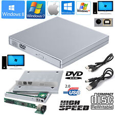 USB 2.0 To SATA External CD/DVD Combo RW ROM Drive Enclosure Caddy Case Cover UK