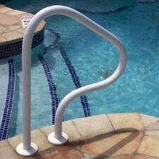 Saftron P-326-Rtd-W Figure Four 3-Bend Polymer Salt-Friendly Handrail-White