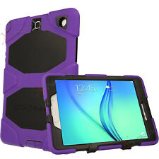 Samsung Galaxy Tab a 9.7 P550 Tough Heavy Duty Shock Protective Survival Case Purple