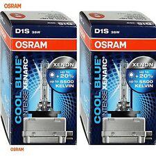 2 OSRAM d1s 66140cbi COOL BLUE INTENSE XENON LAMPADA FANALE BRUCIATORE XENARC