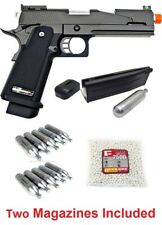 WE Hi-Capa 5.1 V5 1911 Full Metal Gas CO2 Blowback Airsoft Pistol Package Deal
