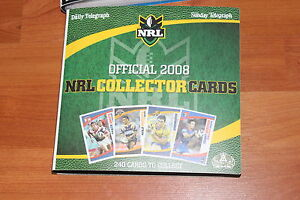 NRL COLLECTOR CARDS AND BINDER -  2008 COMPLETE SET