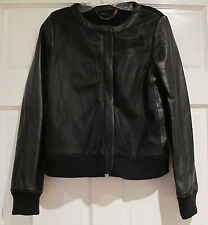 Marc by Marc Jacobs Jacket Leather and Knit Collarless Bomber Moto Size S