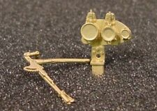 O/On3/On30 WISEMAN BACK SHOP BRASS BS-065 TOP MOUNT THROTTLE AND GAUGE ASSEMBLY