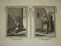 Gravure XVIII ORIENTALISTE COSTUME BARBARIE MAGHREB ALGERIE MAROC TUNISIE VOYAGE