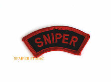SNIPER TAB RIFLE HAT PATCH US ARMY NAVY AIR FORCE MARINES PIN SEALS SPECIAL OPS
