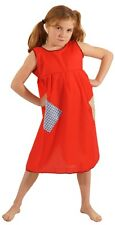 VICTORIAN PINNY Annie/Workhouse/Orphan/Servant -Red Smock Patched FANCY DRESS