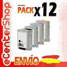 12 Cartuchos de Tinta NON-OEM HP 88XL - Officejet Pro K8600 DN