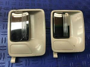 2011-2016 FORD F250 FRONT REAR RIGHT SIDE EXTERIOR DOOR HANDLE WHITE METALLIC