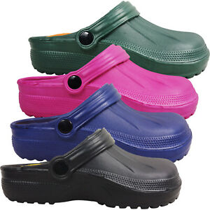 Womens Ladies Slip On Lightweight Mules Clogs Sandals Shoes Summer NURSE Size