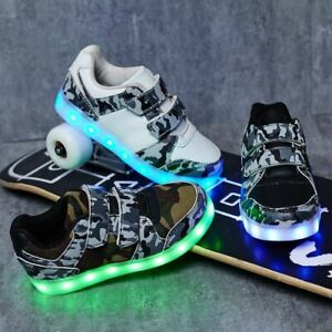 USB Charging Children Boys Shoes Glowing Luminous Sneakers For Girls