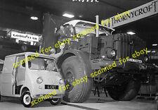 Photo - Goggomobil pickup truck & Thornycroft tractor, Earls Court show, 1960