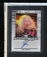 TWISTED SISTER Dee Snider Autographed Trading Card; 2017 Leaf Musically Yours