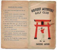 1940s Golf Score Card US Fleet Activities Sasebo Japan