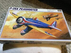 Hasegawa 1/32 P-26A Peashooter US Army Fighter Vintage Kit