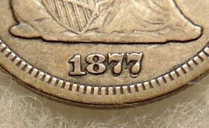 1877-CC Liberty Seated Quarter - FS-301 RPD Var. - Sharp Looking Coin