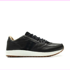 Saucony Originals Freedom Runner Everun Leather Running Shoes  Black