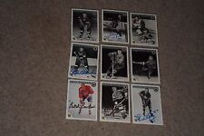 LOT OF (32) 1992 ULTIMATE HOCKEY LEGENDS SIGNED AUTOGRAPHED CARDS W/HOFers!
