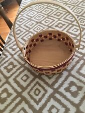 Longaberger 2006 Red/Natural Small Pie Basket Display Use Only Euc