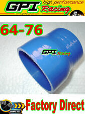 2.5-3 inch Straight Silicone Hose Reducer 64-76mm Coulper pipe intercooler blu**