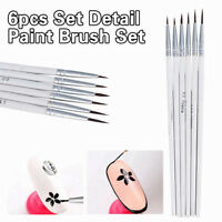 6PCS Detail Paint Brush Set Miniature Art Brushes for Fine Detailing Craft Lot