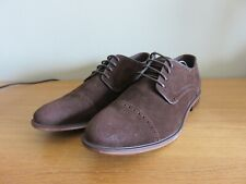 BURTON Menswear TOBY Suede Leather Shoes - Brown - Size UK 8, EUR 42 - NEW