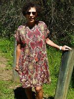 Paper Fig NWT Paisley Maroon Shift Dress Sizes 10,12,14 & 22,24 PLUS
